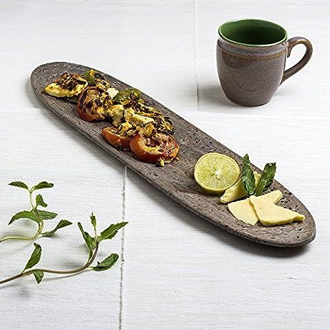 Stylist Slate Antipasto dessert Serving Platter intagliato