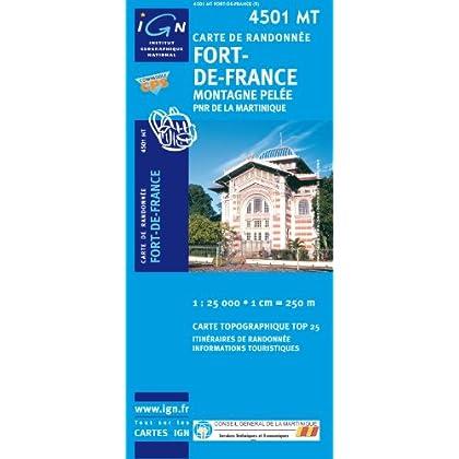 Carte de randonnée : Fort-de-France - Montagne Pelée