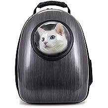 Mochilas para Gatos Capsula Aerolínea Aprobada Mochila para Mascotas Perros Portátil Respirable Resistente a los Arañazos