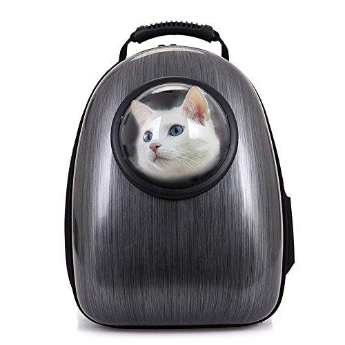 Cat Backpacks Capsule Airline Zugelassener Rucksack für Haustiere Hunde Tragbar Atmungsaktiv Kratzfest für Transportreisen Walking Black