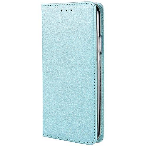 HARRMS iPhone 6 Plus,iPhone 6s Plus Handyhülle Handytasche mit Geldbörse mit Kredit Karten Fach Geldklammer Leder Hülle Handyfach Magnet Schutzhülle, Minzgrün - Rosa Iphone 6 Plus Leder Geldbörse