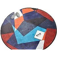 Homesuns Toallas de Playa Redondas alfombras para salón hogar decoración Nórdica Ordenador Silla Alfombrilla de Suelo