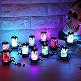 Jaminy 12 pcs LED Teelichter Kerzen Batterie betrieben Kerzen LED Teelichter Flammenlose Kerzen Halloween LED candles tealights