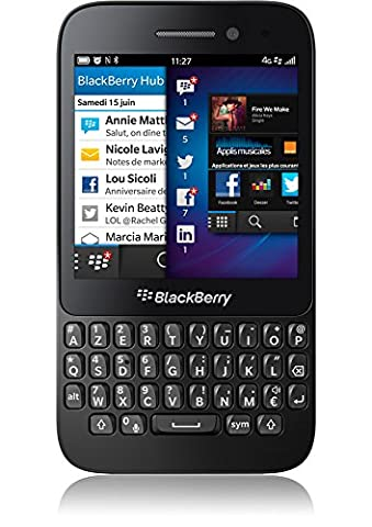 Blackberry Q5 NFC LTE Smartphone AZERTY Compact Orange Sim Free Mo Noir