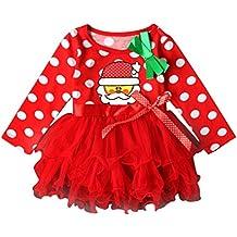 cee012b93 Disfraz Navidad Vestido para Bebe Niñas 3 Meses-18 Meses Invierno ...