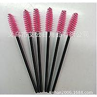 Aplicador de pestañas cepillo, 50pcs desechable Mascara Pestañas cepillos aplicadores–Cepillo de cejas, suministros de extensión de pestañas (rosa)