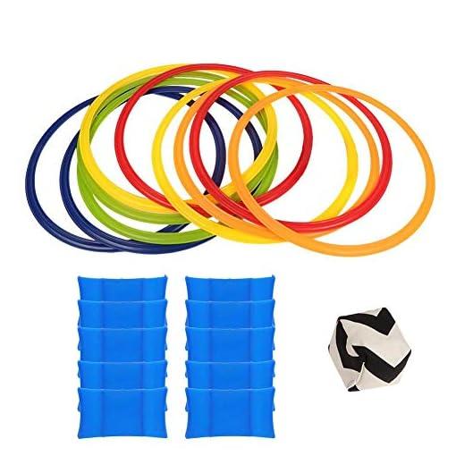 Alomejor-Kids-Hopscotch-Ring-Spiel-Hop-Count-Hopscotch-Rug-Jumping-Rings