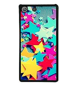 Multi colour Stars 2D Hard Polycarbonate Designer Back Case Cover for Sony Xperia M5 Dual :: Sony Xperia M5 E5633 E5643 E5663
