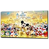 "Plush Prints Disney Characters Canvas Print - Dominant Colour: As Shown In Picture - Canvas Size: 12"" X16"""