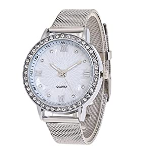 Qmber armbanduhren für Frauen,Frauen Crystal Bright Diamond Rom Digital Network Watch Quarzuhr