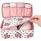 JAPP Multifunctional Bra Underwear Organizer Bag Slide Portable Cosmetic Makeup Lingerie Toiletry Travel Bag With...