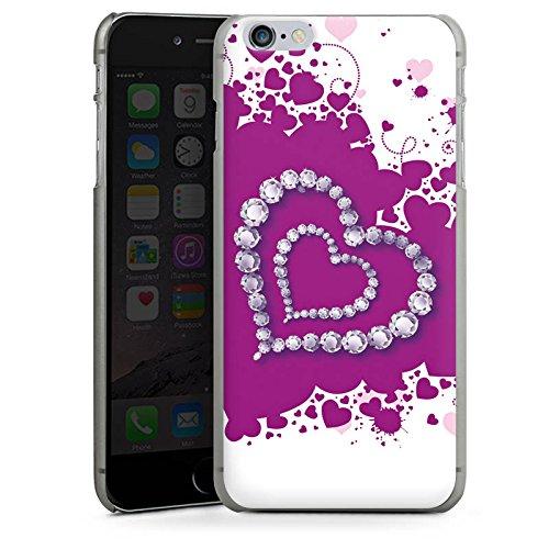 Apple iPhone X Silikon Hülle Case Schutzhülle Herz Liebe Love Hard Case anthrazit-klar