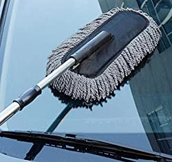 Absales Car Cleaning Brush Duster Car Wash Dust Wax Mop Microfiber Dusting Tool