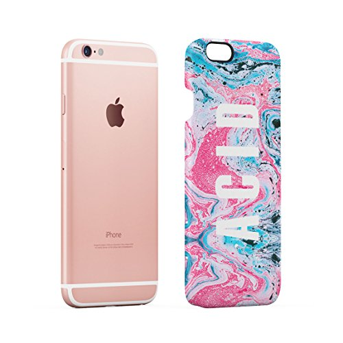 Acid Trippy Psychedelic Tie Dye Dünne Rückschale aus Hartplastik für iPhone 6 & iPhone 6s Handy Hülle Schutzhülle Slim Fit Case cover Trippy Acid