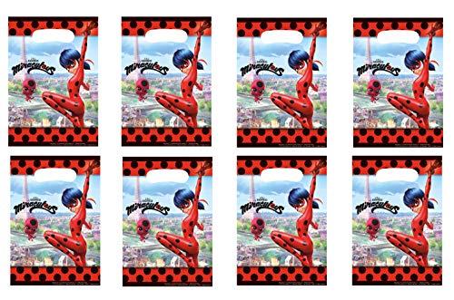 8 Partytüten * MIRACULOUS * für eine Mottoparty oder Kindergeburtstag // von Amscan // Ladybug Marienkäfer Superheld Party Geburtstag Mitgebsel Geschenktüten Tüten