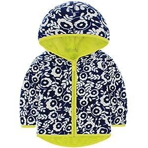 Vine Niños Chaquetas polar Reversible Abrigos con Capucha Fleece Chaquetas Deportivas para 3-4 Años 8