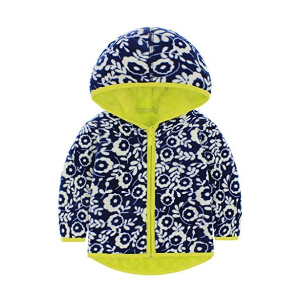 Vine Niños Chaquetas Polar Reversible Abrigos con Capucha Fleece Chaquetas Deportivas 1