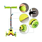 begorey Kinderscooter 3 Räder Kinderroller Tretroller aus Alulegierung mit LED Rollen für Kinder ab 2 Jahre
