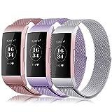 Gogoings Bracelet pour Fitbit Charge 3 - Bracelet Rechange Sport Band Réglable en...