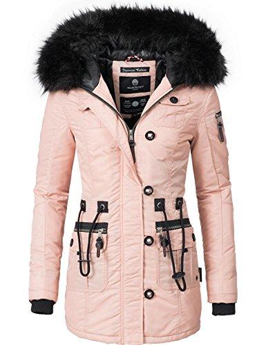 Marikoo Damen Mantel Wintermantel Winterparka Elle (vegan hergestellt) Rosa Gr. M