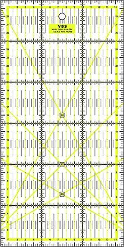 Patchwork Lineal Zentimeterraster 30 cm x 15 cm - Gelb