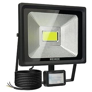 MEIKEE 30W LED Strahler mit Bewegungsmelder 3000 LM superhell LED Fluter IP66 wasserdicht Außenstrahler Flutlichtstrahler Scheinwerfer Licht, ideale Wandleuchte für Garten, Garage, Sportplatz
