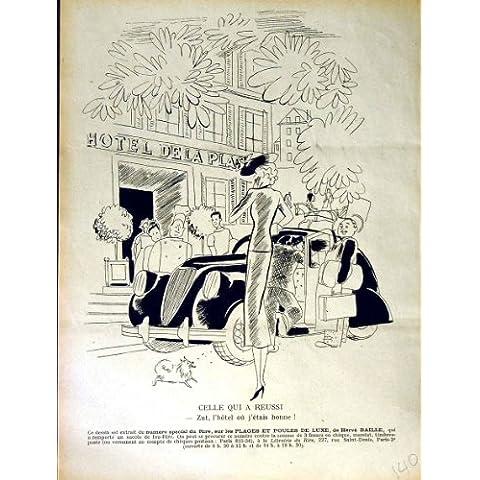 Impresión Antigua del Coche de Motor de Dela del Hotel de la Revista del Humor de Le Rire French