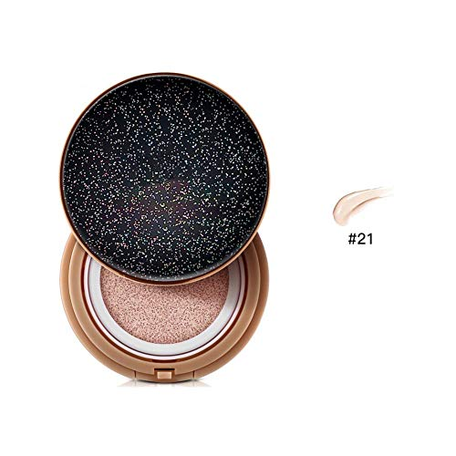 euwanyu Air Cushion CC Cream Foundation Breathable Nude Makeup Concealer Hide Pores Cover Blemishes (21#) -