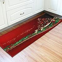 Bolange Alfombrilla de alfombras de Franela Antideslizante, 40 * 120 cm Alfombra de árbol de Navidad decoración de Vacaciones en casa
