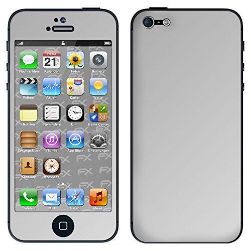 "Skin Apple iPhone 5 ""FX-Camouflage-Black"" Sticker Autocollant FX-Chrome-Soft-Silver"