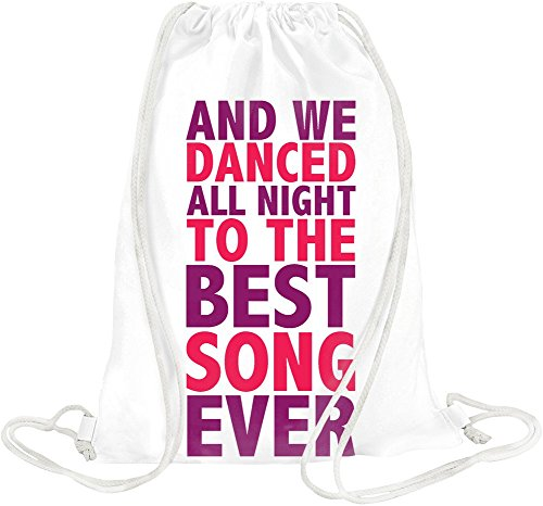 And We Danced All Night To The Best Song Ever Slogan Drawstring bag