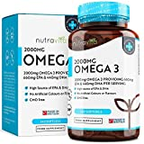 Omega 3 (2000mg) | 660 mg EPA e 440 mg DHA | Capsule di gel morbide all'olio di pesce...