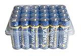 Varta 11582406 Alkaline Batterie (Mignon, AA, LR06, 24er Box) blau/gelb/weiß