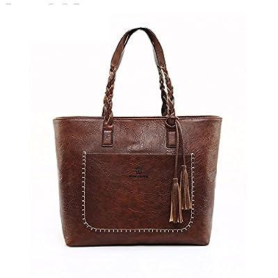 Sac à bandoulière en cuir souple femme Tophandle Mesdames sacs fourre-tout sac à main Sacs à main Designer Tassel Chers Sacs à main