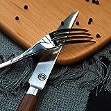 T.G.Y Steakmesser Set,6-teilig Tafel-Messer aus Edelstahl Menümesser Mono Tafelmesser Monobloc-Messer Edelstahl poliert - 6