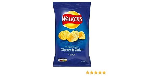 Walkers Cheese Onion Chips 6 X 25 G Amazonde Lebensmittel