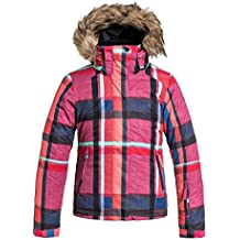 Roxy Jet Ski JK - Chaqueta de nieve para niña, multicolor, talla 12/L