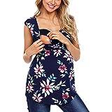 Lonshell Mutterschafts Umstandsshirt Tank Top V-Ausschnitt T-Shirt Sommer Weste Unterhemd Schwangerschaft Umstands-Top Umstandsmode Oberteile