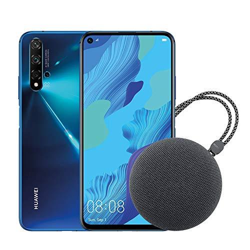 huawei nova 5t (blue) smartphone + speaker bluetooth, 128gb+6gb ram, fotocamera principale da 48mp, processore kirin 980 con intelligenza artificiale [italia]