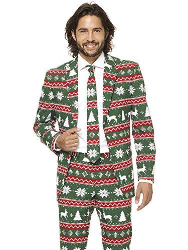 (Opposuits Weihnachtsanzüge für Herren - besteht aus Sakko, Hose und Krawatte)