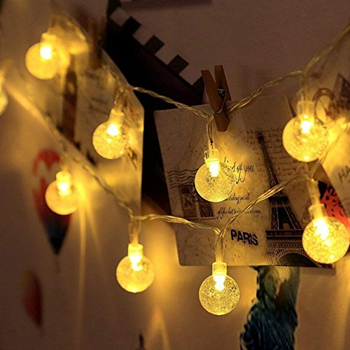Techno E-Tail 20 LED Decorative Globe String Lights, Ball Hanging Fairy Lights for Home Decoration (Warm White)