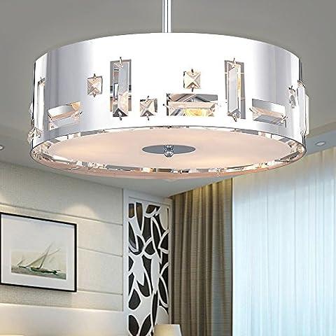 SPARKSOR Ceiling Lighting Chrome Pendant Lamp Drum Light for Living Room Bedroom Kitchen dining room Ø41xH33.5cm 3xE27