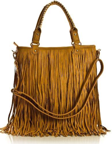 Big Handbag Shop, Borsa a spalla donna One Light Tan