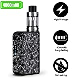 Cigarette Electronique Kit Complet version 2,0 Modèle 120W TC Top Fill Box Mod E Cigarette Vape Kit 4000 mAh Batterie LED Ecran 2,0 ml Atomiseur Ohm Resistance 0,2 ohm Sans Nicotine