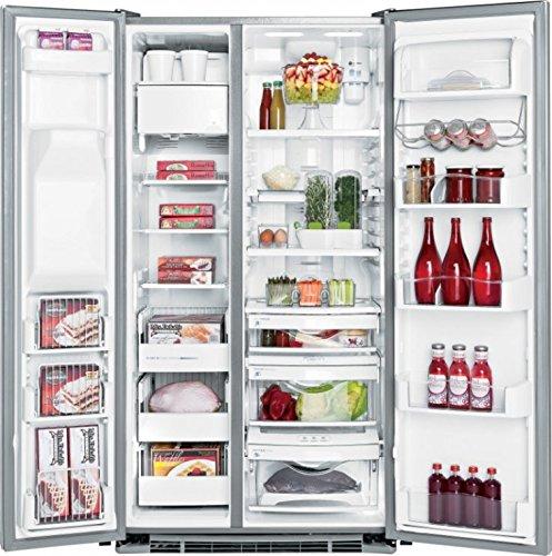 General Electric RCE 24 VGF SS 3E - Amerikanischer Kühlschrank / Kühlschrank side by side / Kühlschrank aus Voll Edelstahl - Einbau-Kühlschrank - Energieklasse A+ - 2 Jahre Garantie