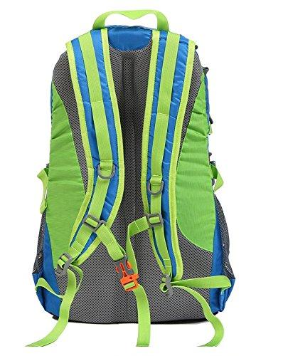 YYY-Tempo libero all'aperto borsa a tracolla uomo e donna alpinismo borsa 30L escursionismo zaino sport , green Blue