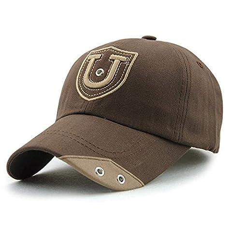 Brief Cotton Baseball Cap - iParaAiluRy Außen Modische Unisexjustierbares Nieten Freizeit-Stickerei-Hut für männliche und weibliche