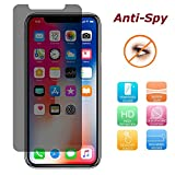 Anti-Spy Pellicola Protettiva in Vetro Temperato per Apple Iphone X/iPhone 105.8pollici con filtro privacy