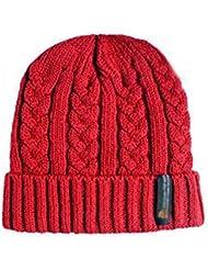 Fletion Homme Chaud Ski d'hiver Chapeau tricoté Thinsulate Thermal Hiver Noir Chapeau Avec Thinsulate doublure SKI HAT
