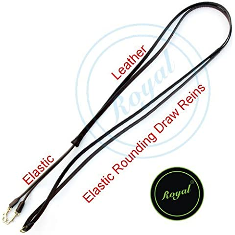 Royal Leather Draw Rein with Round Elastic./
